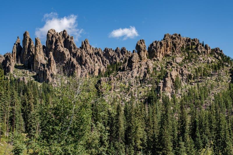 石峰在Custer国家公园,南达科他 库存照片