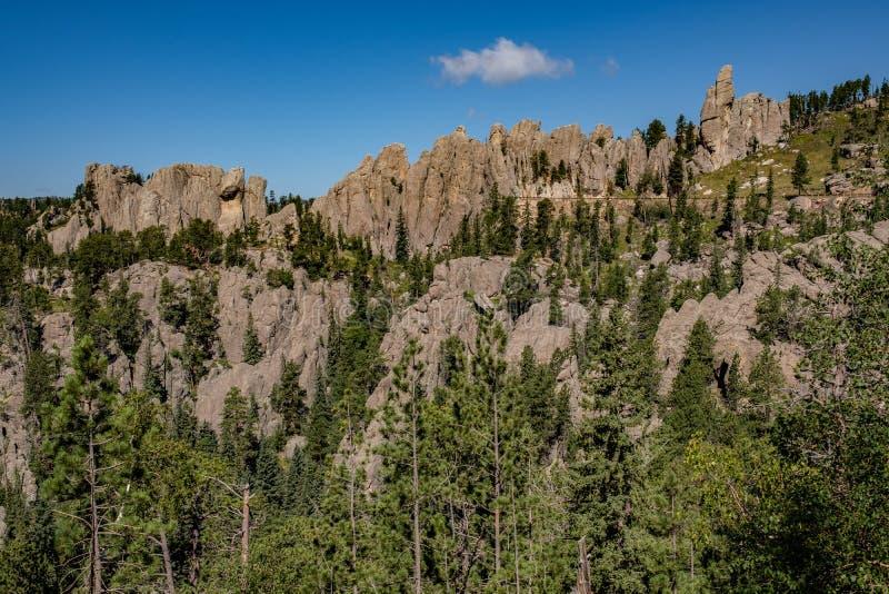 石峰,Custer国家公园,南达科他 免版税库存照片