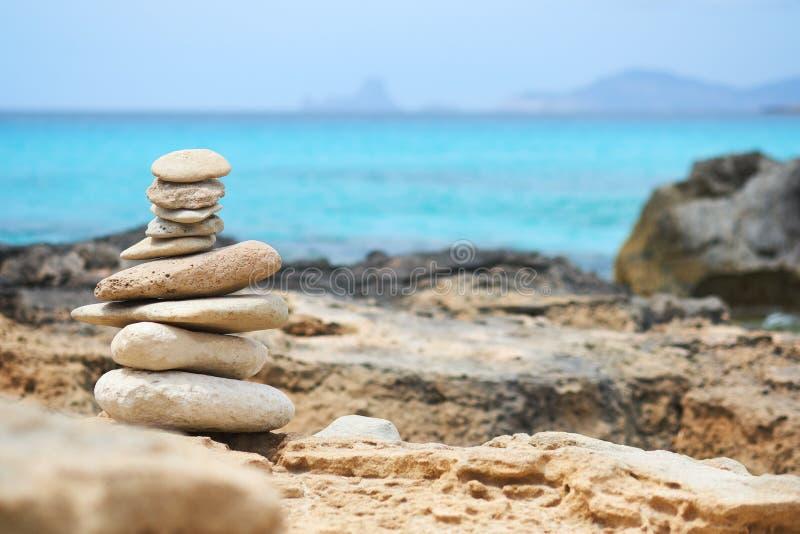 石平衡艺术  库存图片