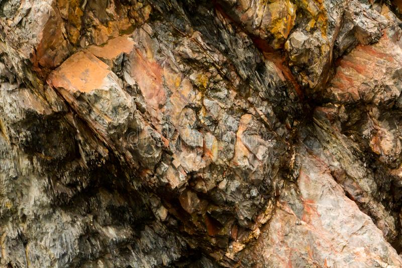 石形成纹理在国立公园埃菲尔山 库存图片