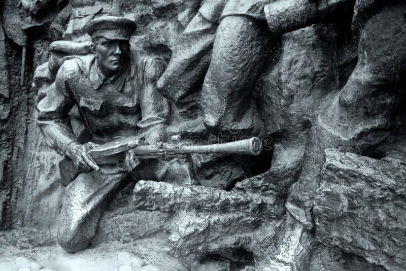 石战士,巨大爱国战争 免版税库存照片