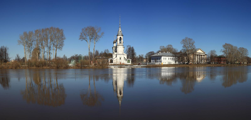 石教堂,东正教,俄罗斯 免版税库存照片