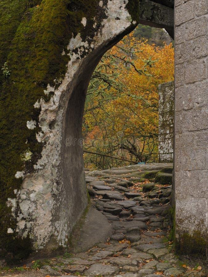 石曲拱圣佩德罗火山de Rocas 免版税库存照片