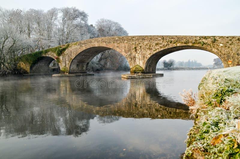 石曲拱桥梁爱尔兰 免版税库存图片
