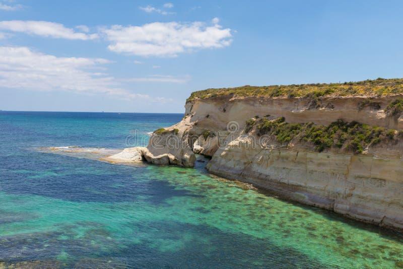 石曲拱Munxar道路马尔萨斯卡拉马耳他 免版税库存照片
