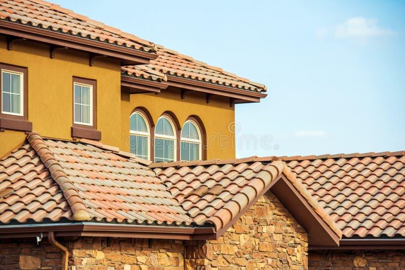 石板屋顶 家庭屋顶 图库摄影