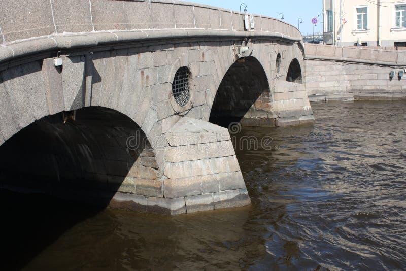 石桥梁和河的看法 免版税库存照片