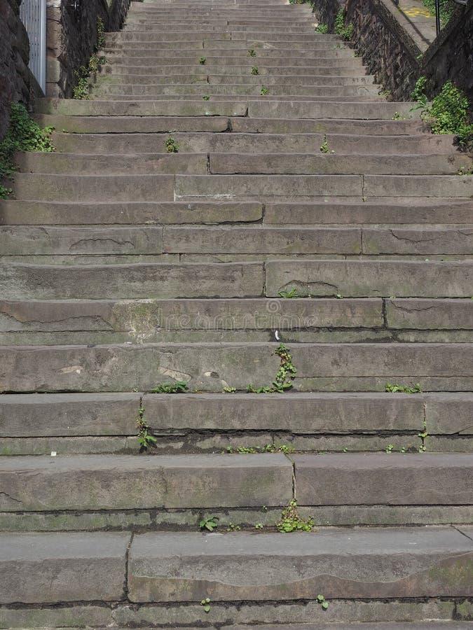 石楼梯步 库存照片