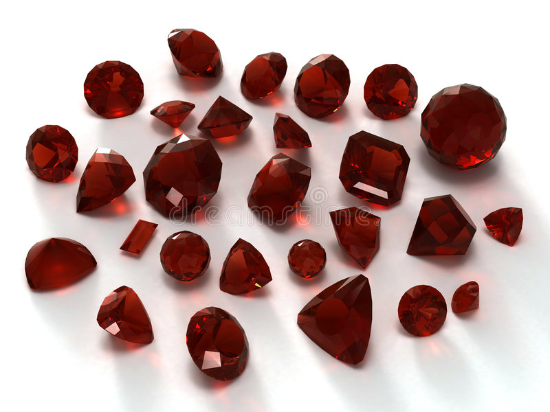石榴石宝石 向量例证