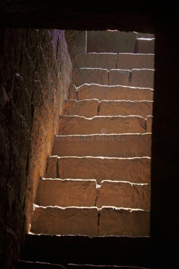 石步,青少年的darwaza panhala堡垒 免版税库存照片
