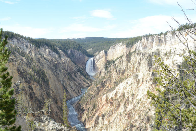 黄石河在黄石NP落 库存图片