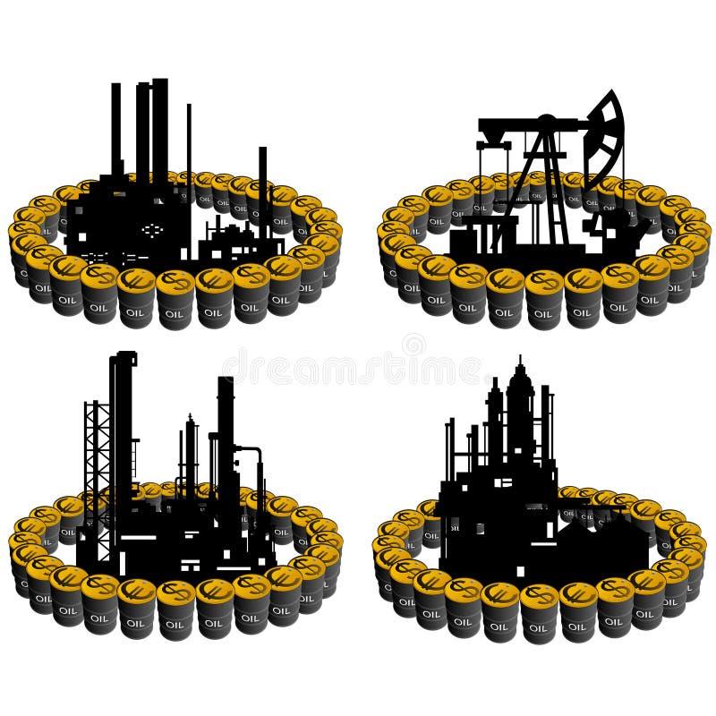 石油事务6 库存例证