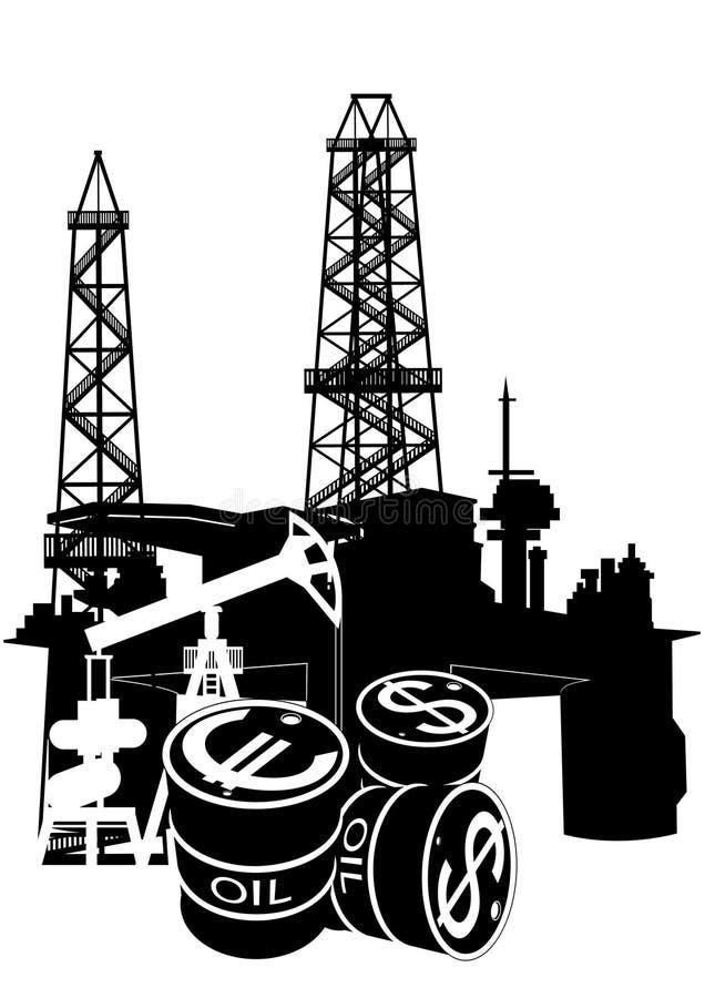 石油产品生产和销售额  皇族释放例证