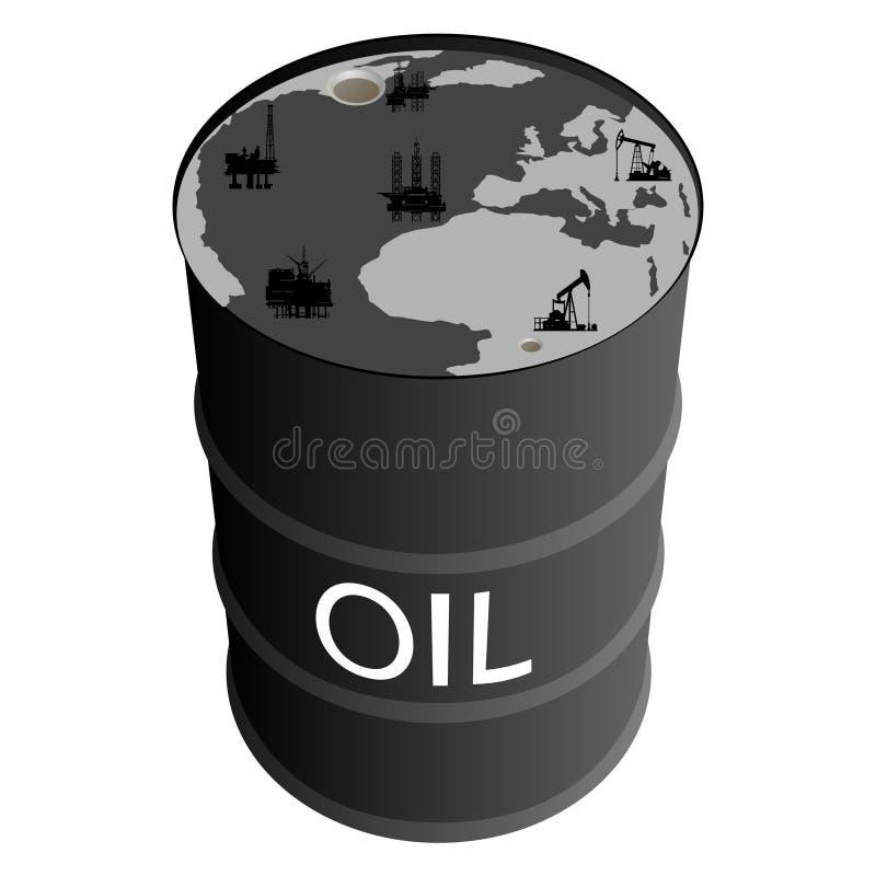 石油产品的提取 皇族释放例证