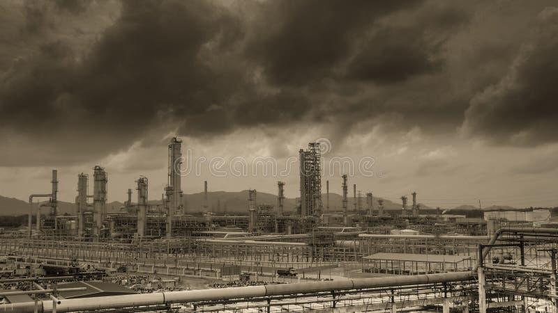 石油化学工业植物 库存图片
