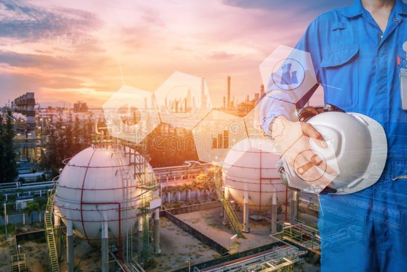 石油化学的企业概念 图库摄影