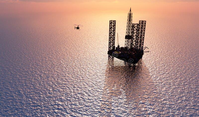 石油化学的塔 向量例证