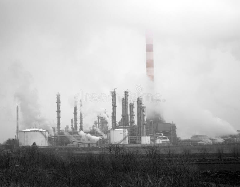 石油化学的工厂设备 库存图片