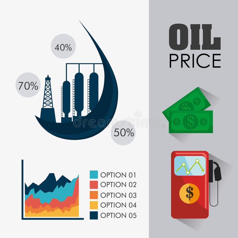 石油和石油工业infographic设计 皇族释放例证