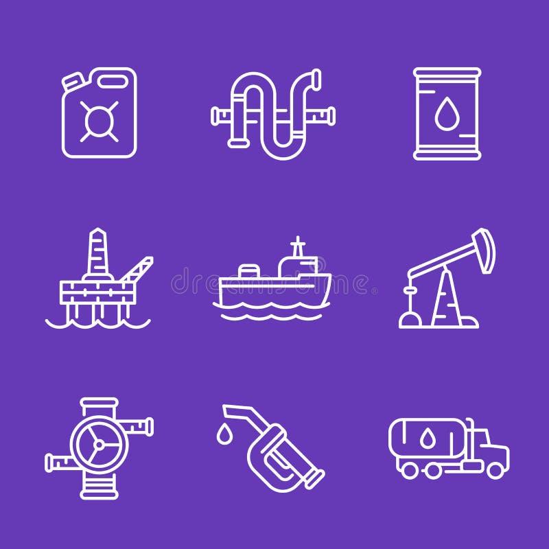 石油工业、油和煤气生产象 库存例证