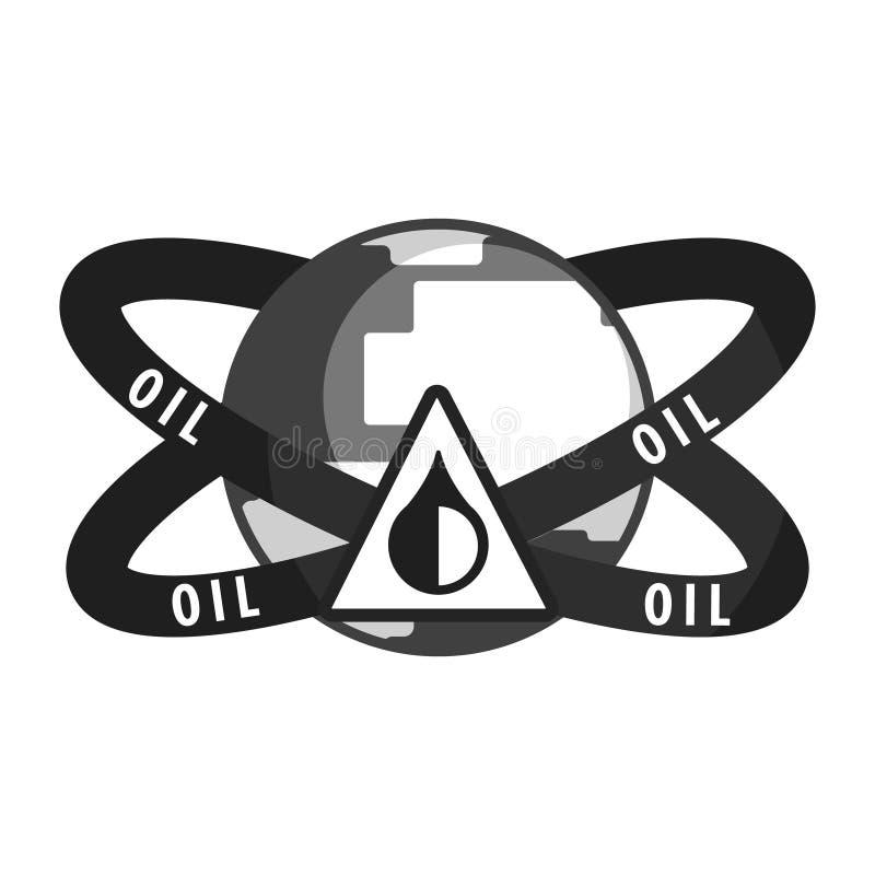 石油工业标志 平的传染媒介例证 皇族释放例证