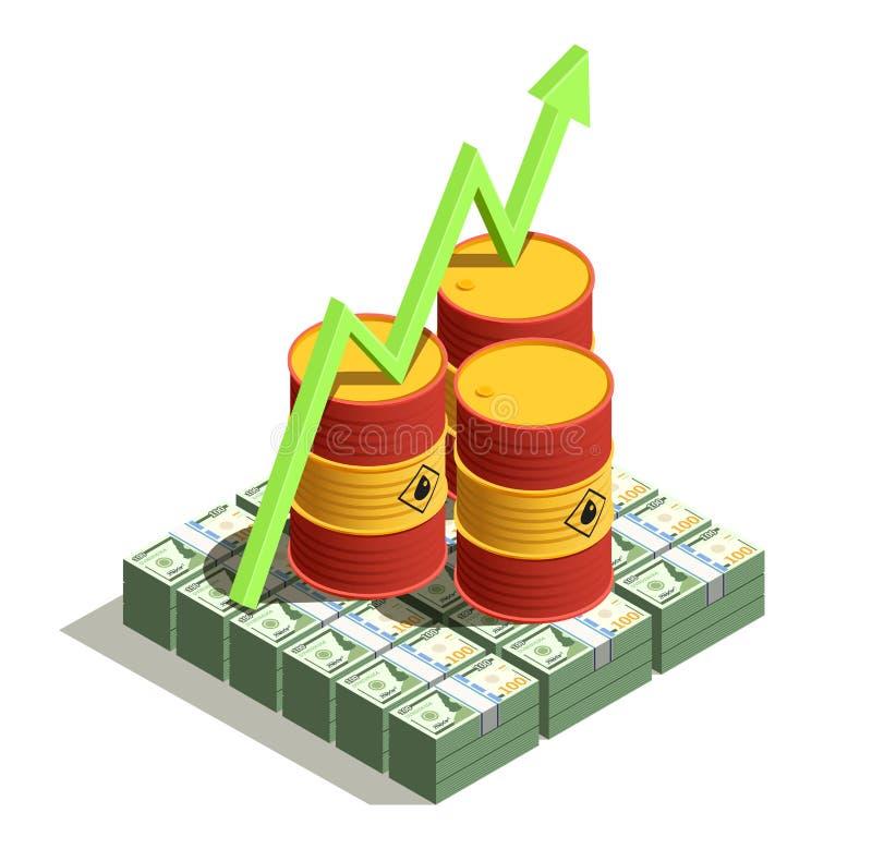 石油工业等量构成 向量例证