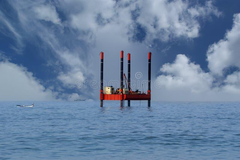 石油平台船具 免版税图库摄影