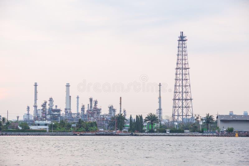 石油炼厂植物 免版税库存照片