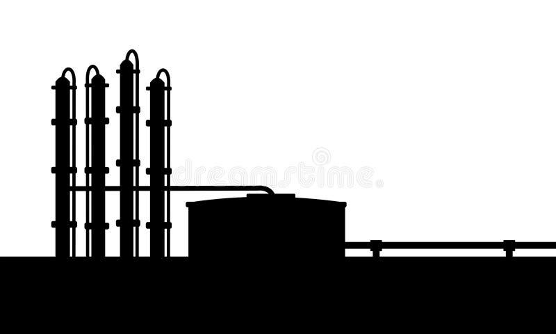 石油炼厂 库存例证
