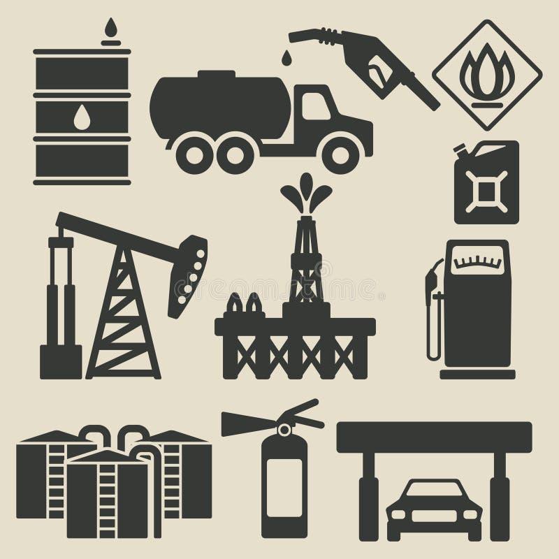 石油生产被设置的产业象 向量例证