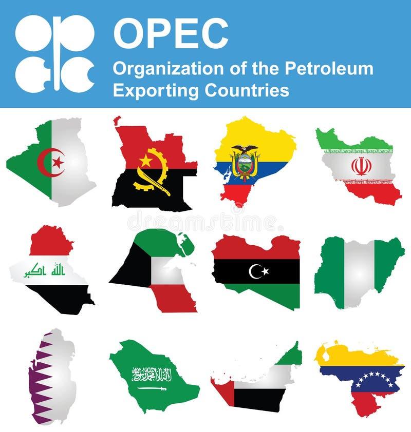 石油输出国组织国家 向量例证