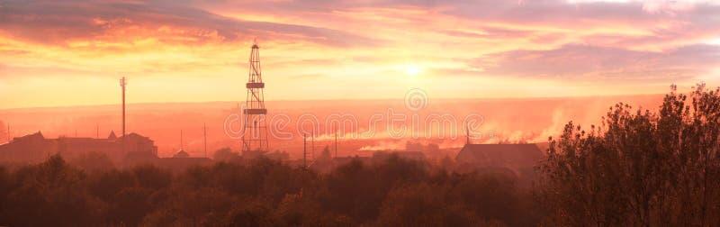 石油钻井船具在Ivano-Frankivsk 免版税图库摄影