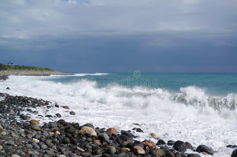 石海滩 免版税图库摄影