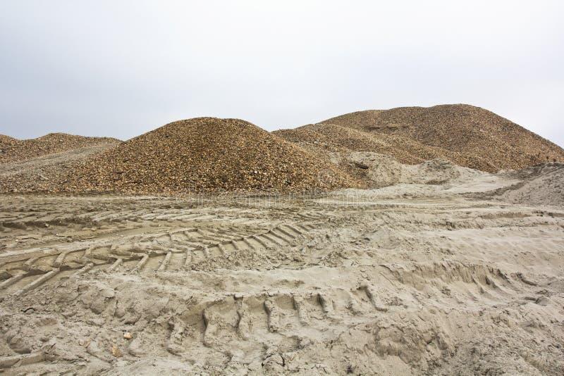 石渣和沙子 免版税库存图片