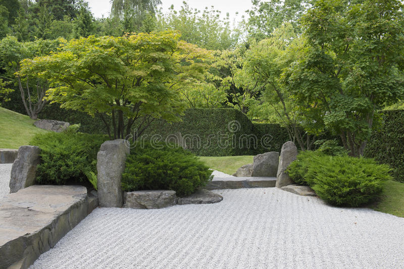 石渣日本人庭院 库存照片