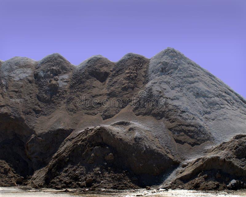 石渣行业堆沙子 库存图片