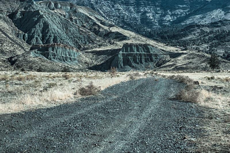 石渣路的末端 图库摄影