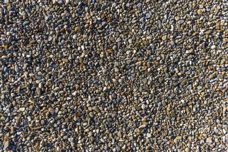 石渣,作为紧固的方式的小卵石,自然地板,排水设备,Bu 免版税库存图片