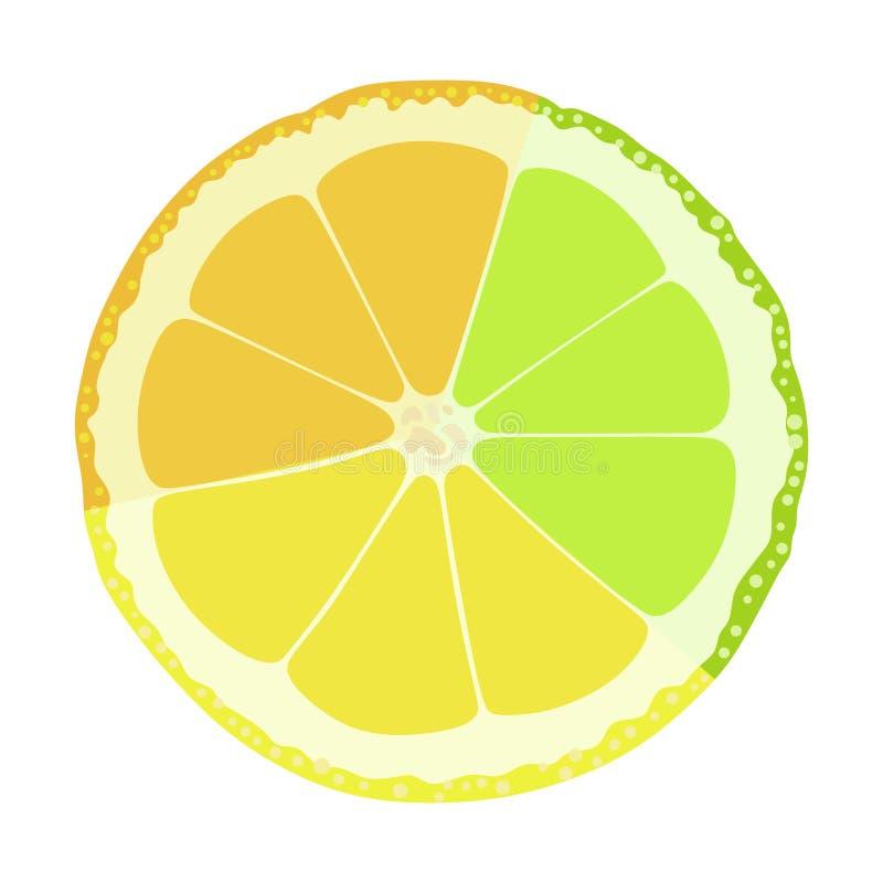 石灰柠檬桔子 皇族释放例证