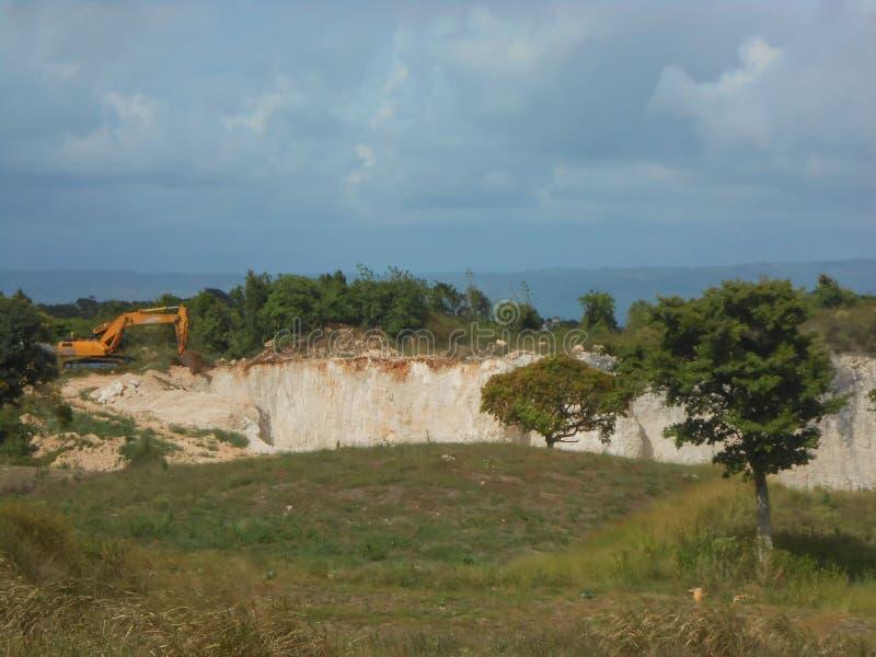 石灰泥坑的场面 库存照片