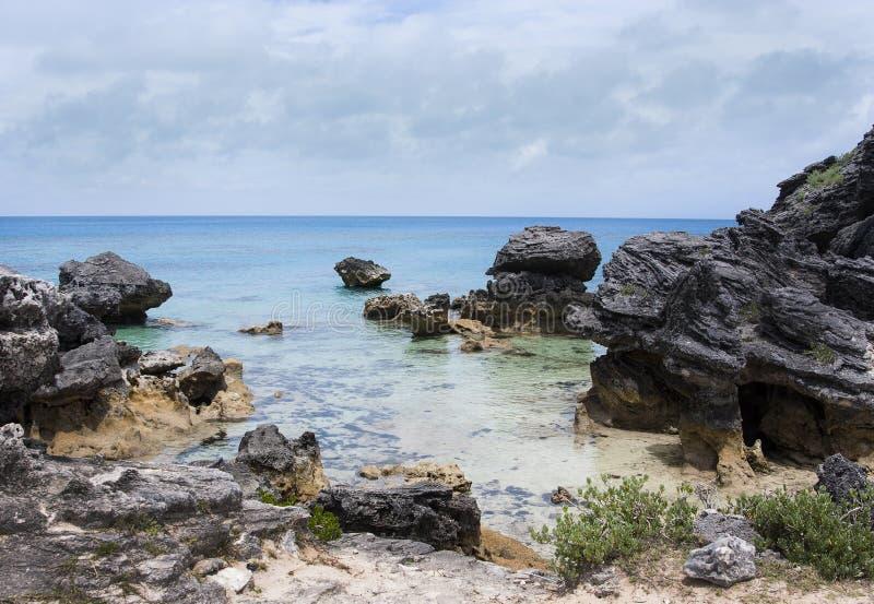 石灰石岩石的专栏 免版税图库摄影
