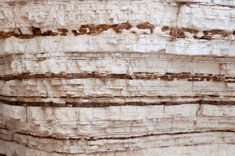 石灰石水成岩加尔加诺,意大利 库存图片