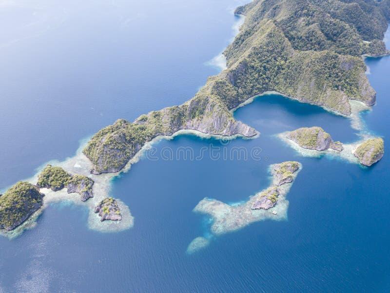 蓝色海上升 这个美好,热带区域为它的非凡海洋生物多样性知道 照片
