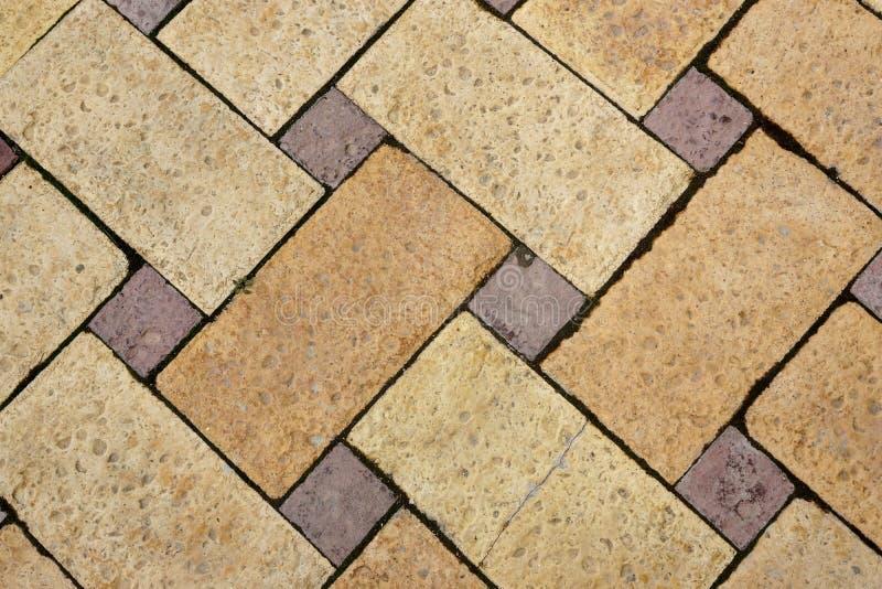 石灰石砖马赛克装饰地板背景. 背包, 陶瓷.