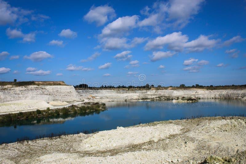 石灰石quarry.JH 免版税库存图片