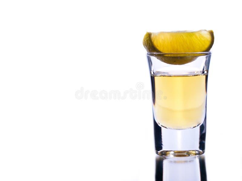 石灰龙舌兰酒 库存图片