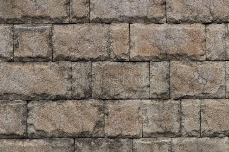 石瓦片纹理砖墙 免版税图库摄影