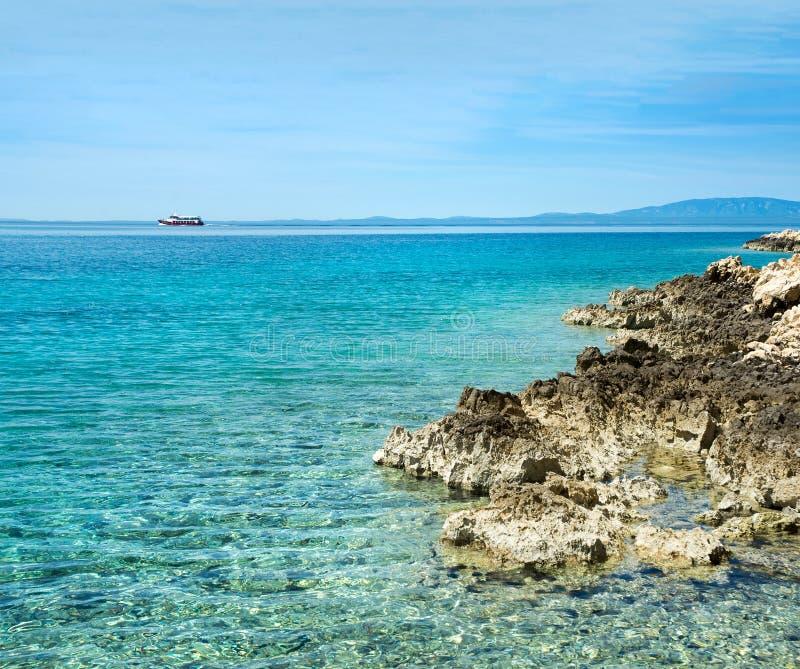 石的海岸 库存照片