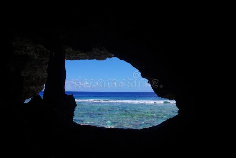 石笋,看从Palaha洞 免版税图库摄影