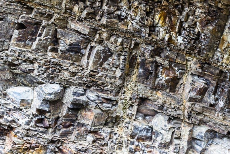 石纹理特写镜头背景 图库摄影